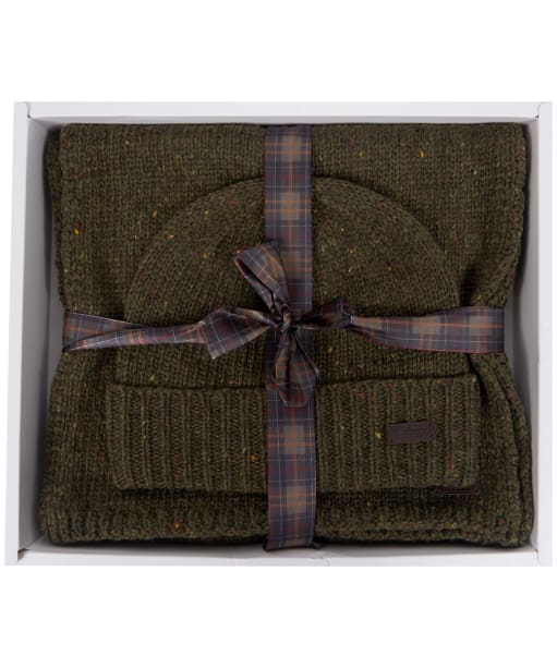 Men's Barbour Donegal Knitted Giftset - Moss Green