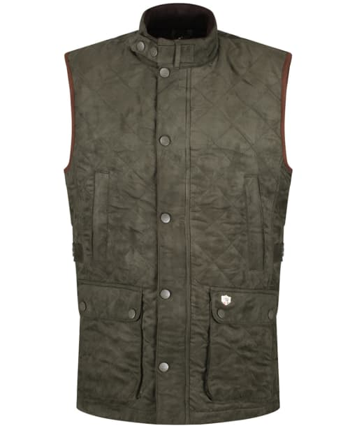 Men's Alan Paine Felwell Quilted Waistcoat - Dark Olive