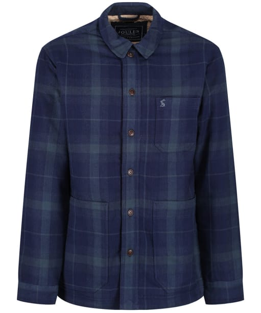 Men's Joules Shacket Shirt Jacket - French Navy Check