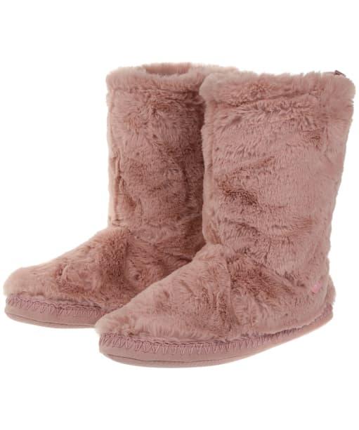 Women's Joules Homestead Luxe Slipper Socks - Soft Pink