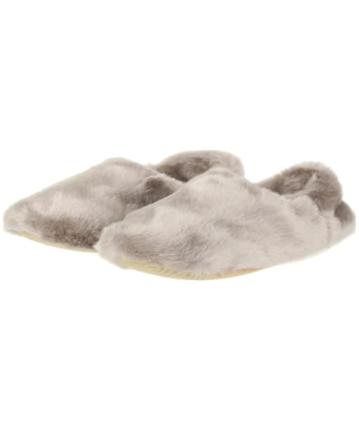 Women's Joules Luxe Faux Fur Slippers - Soft Grey