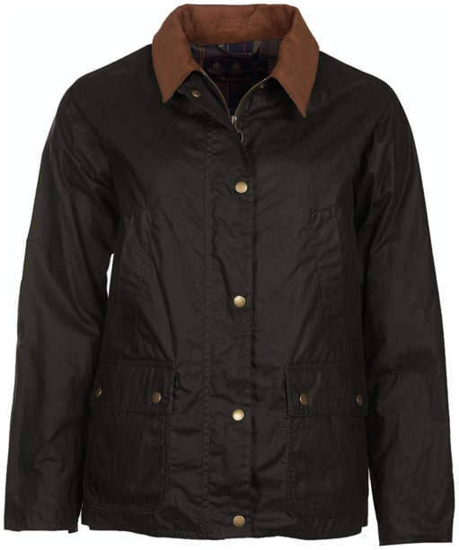 Women's Barbour Lightweight Acorn Wax Jacket - Dark Olive