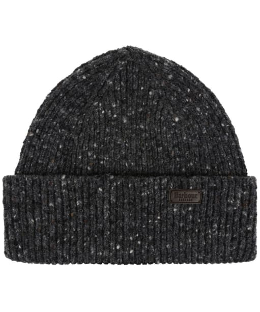 Men's Barbour Lowerfell Donegal Beanie Hat - Charcoal