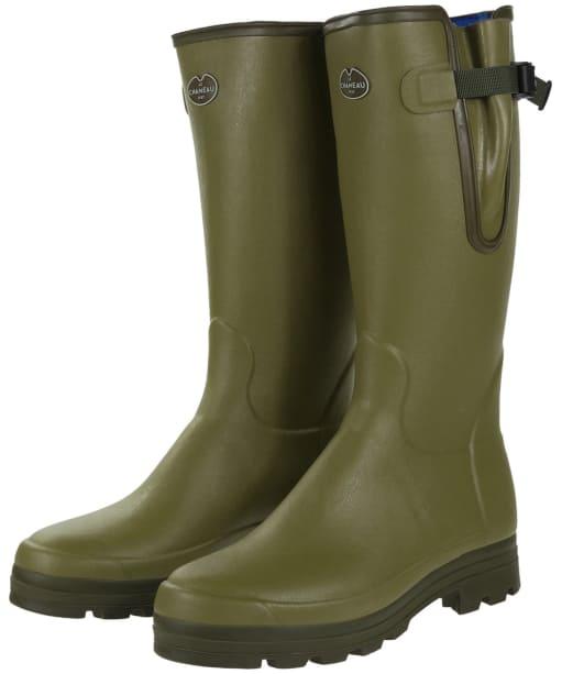 Men's Le Chameau Vierzonord Neo Wellington Boots - 43 cm calf - Green