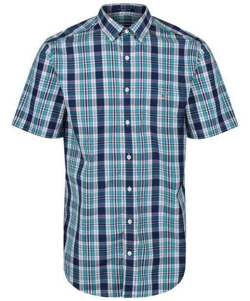 Men's GANT Regular Broadcloth Plaid Shirt - Persian Blue