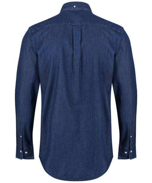 Men's GANT Regular Indigo Shirt - Dark Indigo