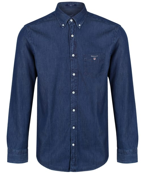 Men's GANT Regular Indigo Shirt - Dark Indigo