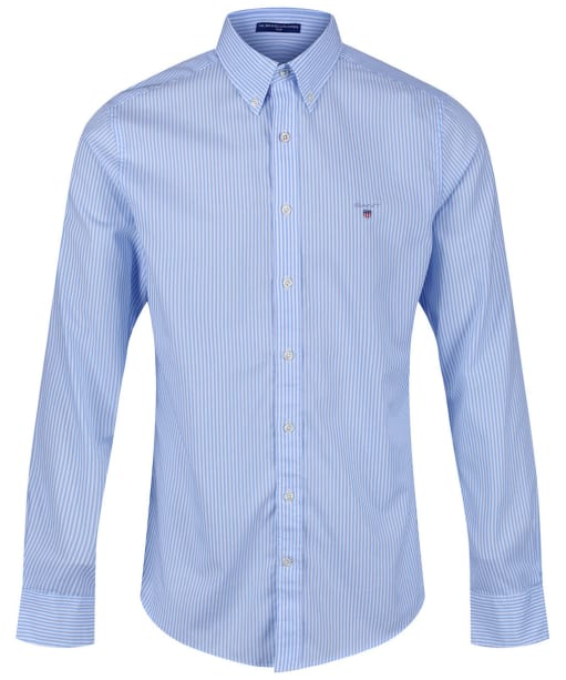 Men's GANT Slim Broadcloth Banker Shirt - Capri Blue