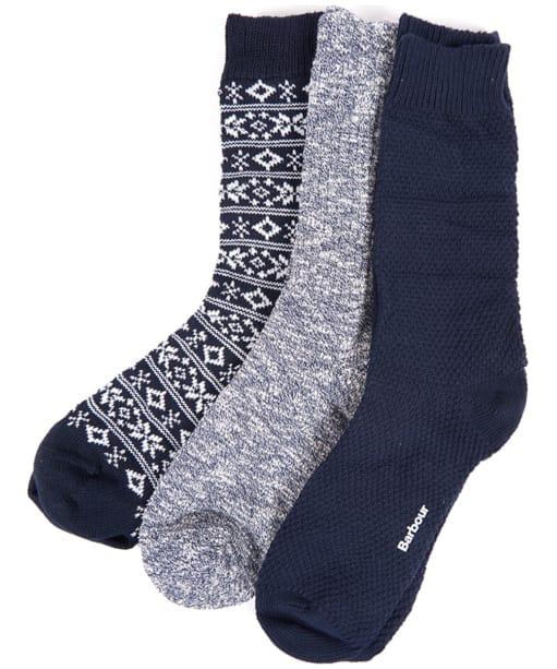 Men's Barbour Chunky Sock Giftset - Multi Mix