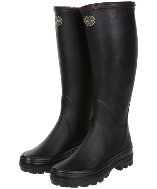 Women's Le Chameau Giverny Wellington Boots - Black