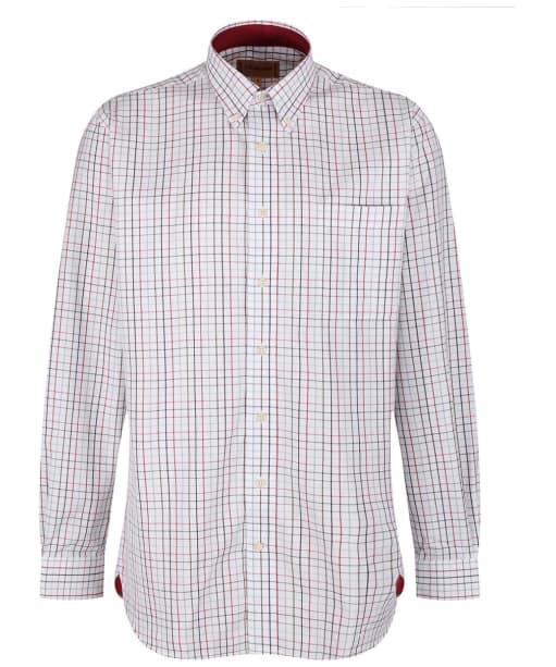 Men's Schoffel Banbury Shirt - Red / Green Check
