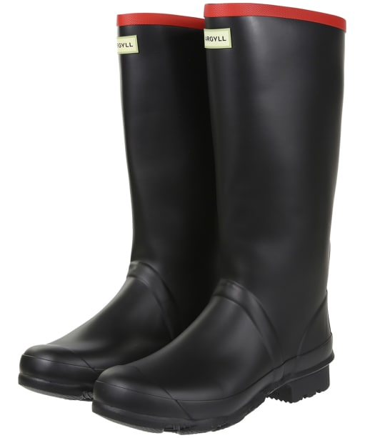 Hunter Argyll Full Knee Neoprene Wellington Boots - Black