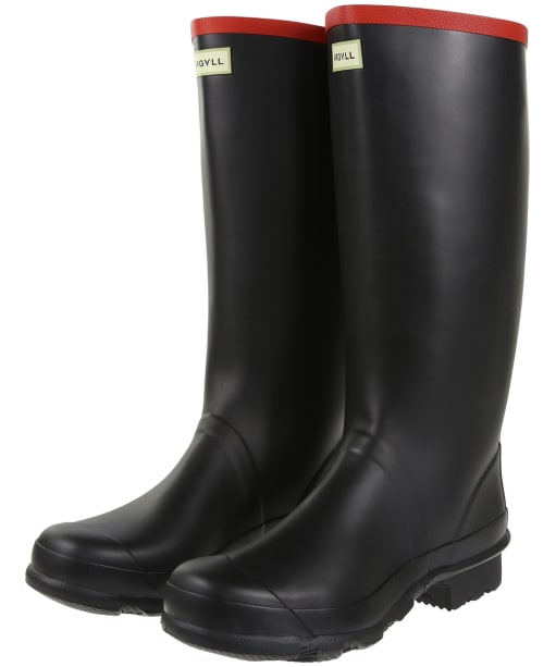 Hunter Argyll Full Knee Wellington Boots - Black