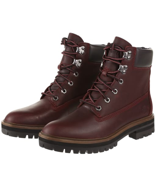Women's Timberland London Square Boots - Dark Port