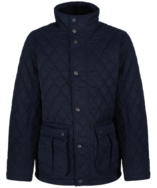 Men's Crew Clothing Harefield Quilted Jacket - Dark Navy