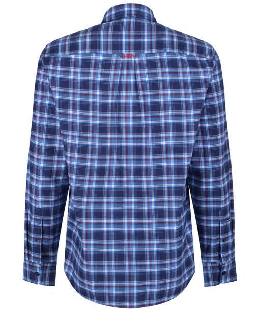 Men's Crew Clothing Flannel Classic Check Shirt - Lapis Blue