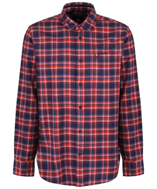 Men's Crew Clothing Flannel Classic Check Shirt - Flame Red