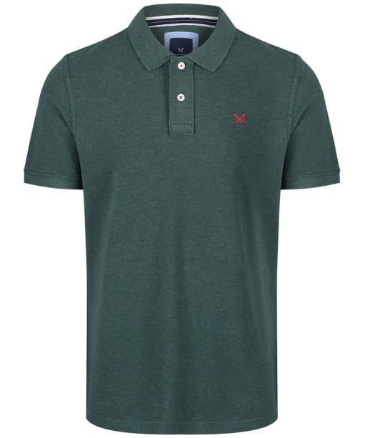 Men's Crew Clothing Classic Pique Polo Shirt - Bottle Green Marl