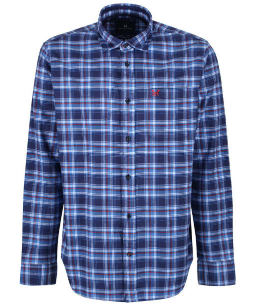 Men's Crew Clothing Flannel Classic Check Shirt - Lapis Blue