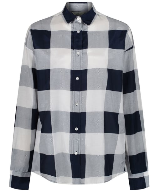 Women's GANT Diamond G Gingham Shirt - Marine