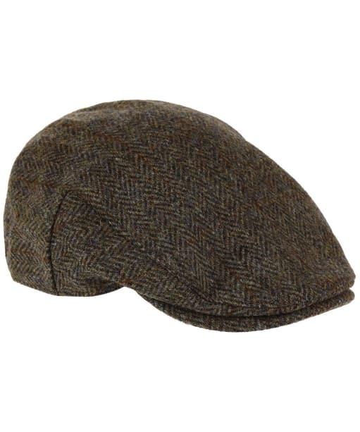 Heather Highland Harris Tweed Flat Cap - GREEN/BROWN HB