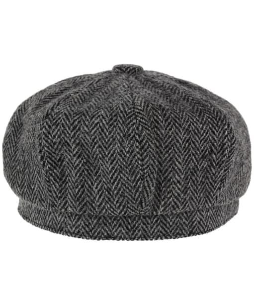 Heather Scott Harris Tweed Newsboy Cap - Black / Grey