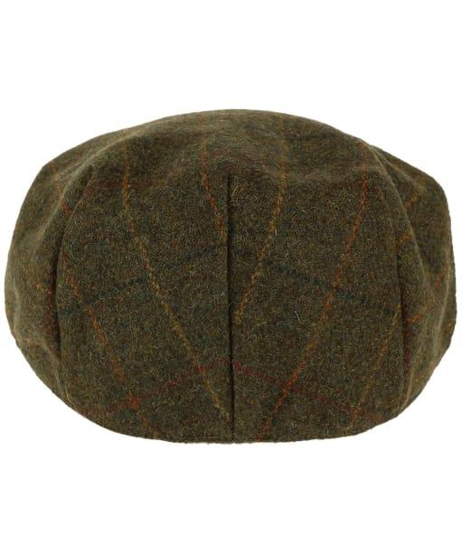 Heather Kinloch Waterproof British Tweed Flat Cap - Brown / Orange Check