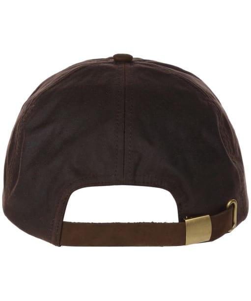 Heather Hamilton Wax Leather Peak Baseball Cap - Brown