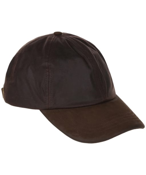 Heather Hamilton Wax Leather Peak Baseball Cap - Brown