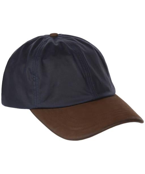 Heather Hamilton Wax Leather Peak Baseball Cap - Navy