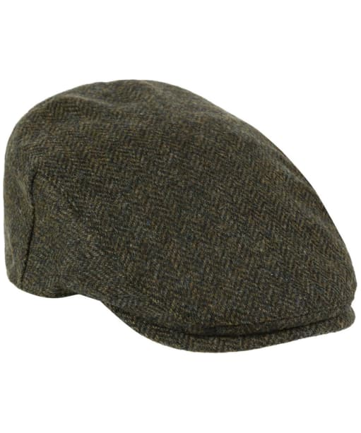 Heather Chapman British Tweed Flat Cap - Green HB