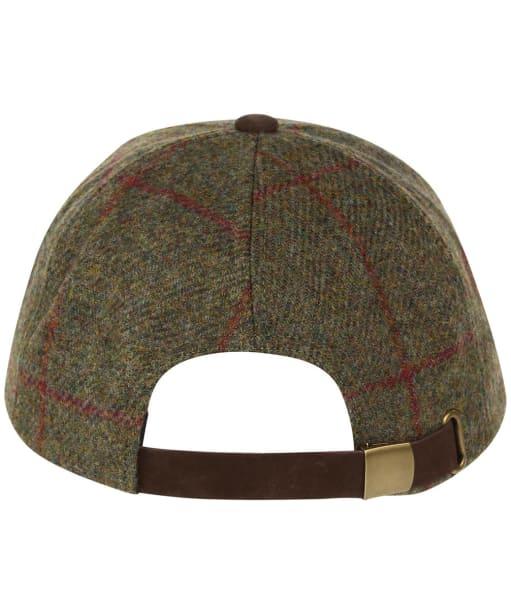 Heather Tyndrum British Tweed Leather Peak Baseball Cap - Brown / Red Check