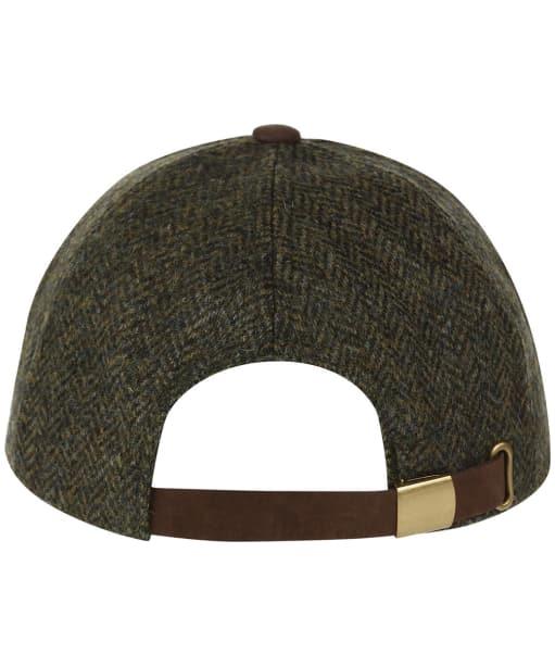 Heather Tyndrum British Tweed Leather Peak Baseball Cap - Green HB