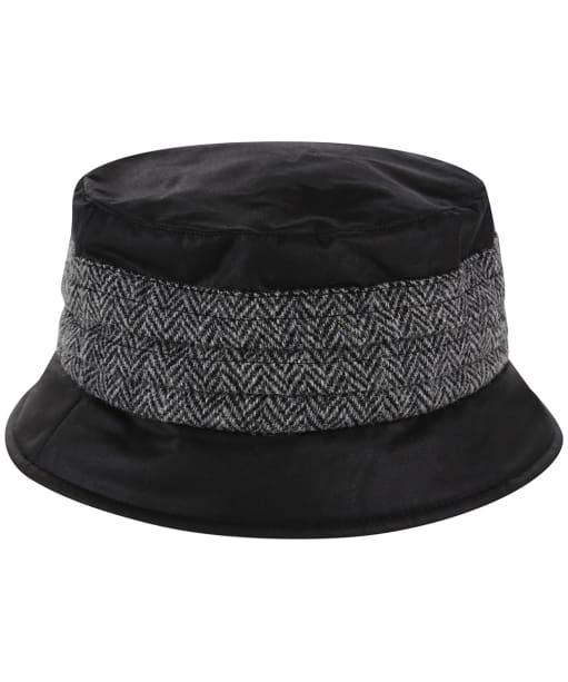 Heather Amy Wax/Harris Pleat Hat - Black / Grey
