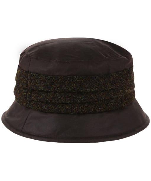 Heather Amy Wax/Harris Pleat Hat - Brown