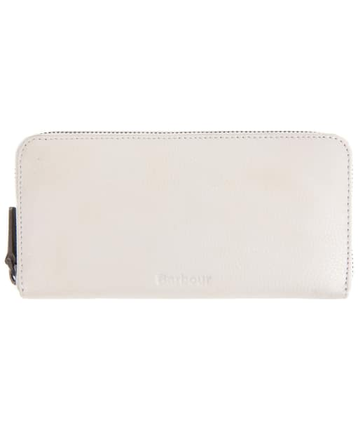 Women's Barbour Leather Clutch Purse - Grey