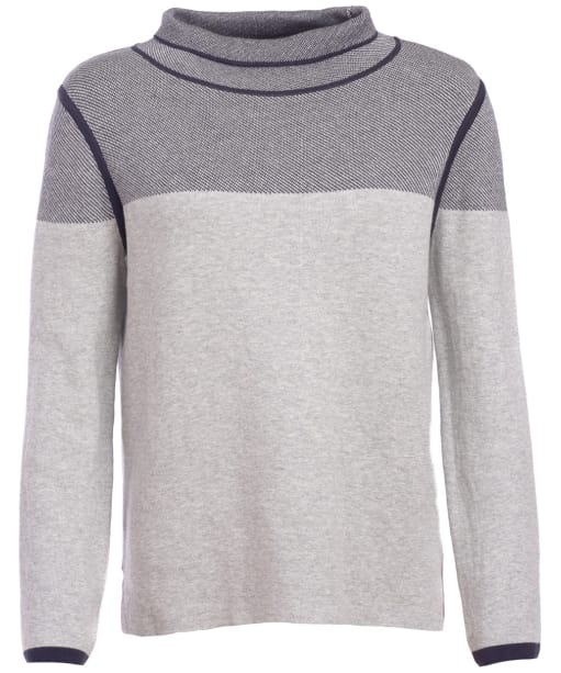 Women's Barbour Globe Knit - Pale Grey Marl / Navy