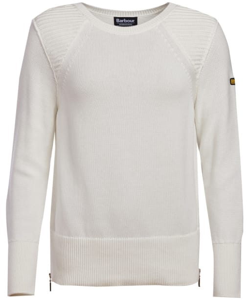 Women's Barbour International Camier Knitted Sweatshirt - Off White