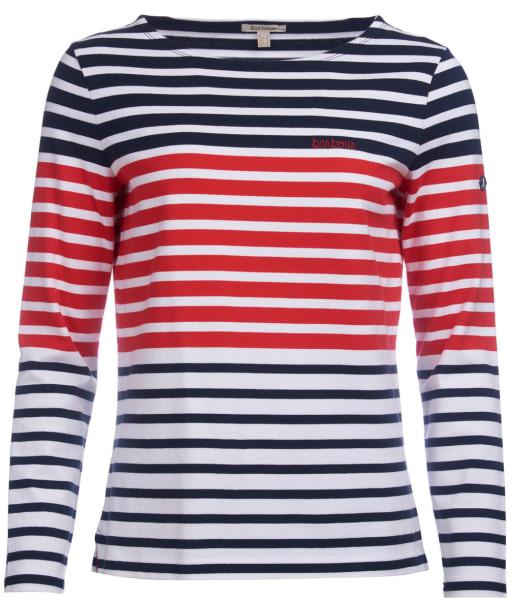 Women's Barbour Tellin Top - Navy / Coastal Red