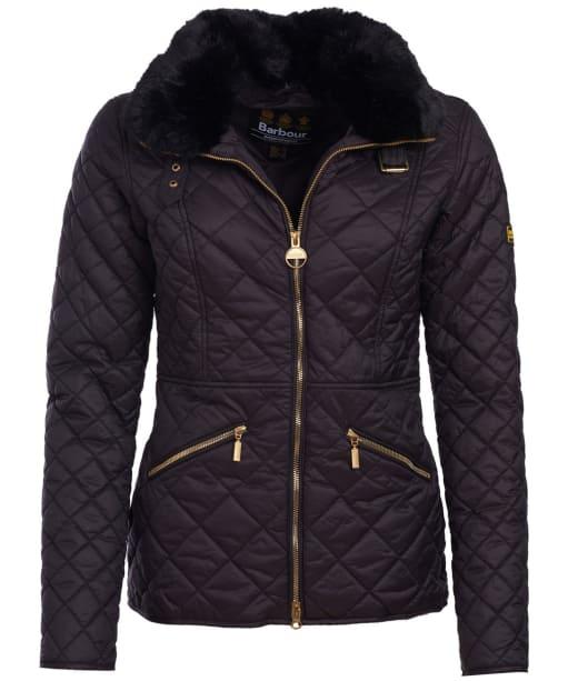 Women's Barbour International Corner Quilted Jacket - Black