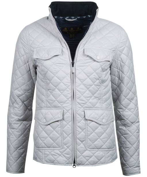 Women's Barbour Sailboat Quilted Jacket - Ice White
