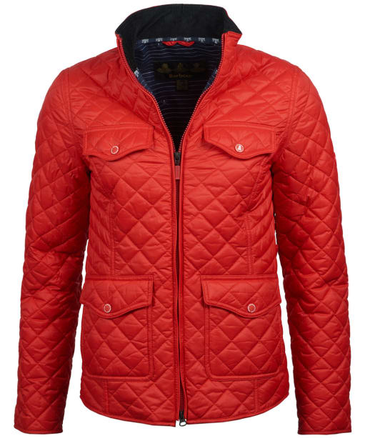Women's Barbour Sailboat Quilted Jacket - Coastal Red