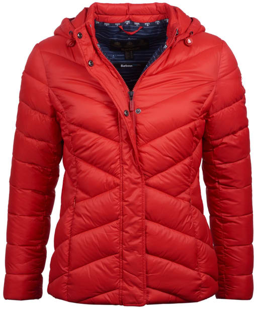Women's Barbour Seaward Quilted Jacket - Coastal Red