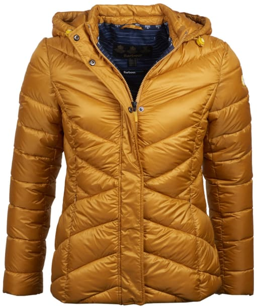 Women's Barbour Seaward Quilted Jacket - Canary Yellow