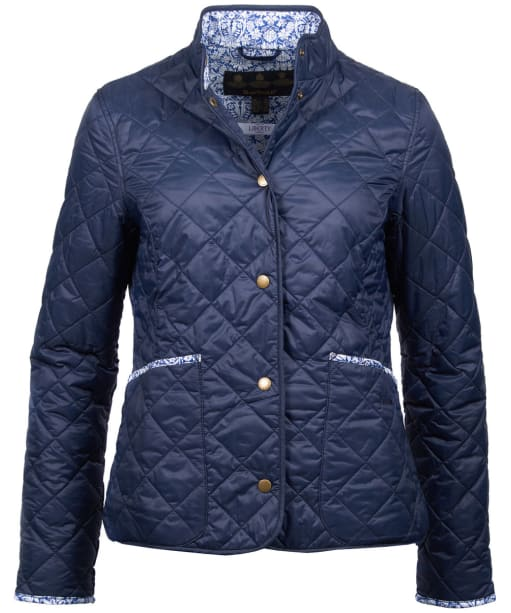 Women's Barbour Liberty Evelyn Quilted Jacket - Navy
