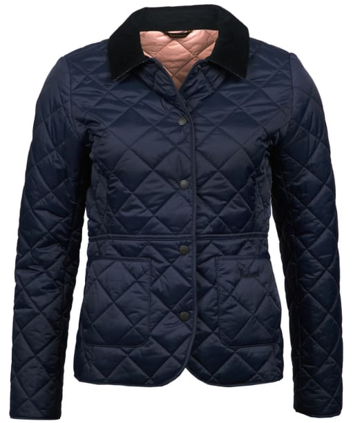 Women's Barbour x Sam Heughan Deveron Quilted Jacket - Navy / Pale Pink