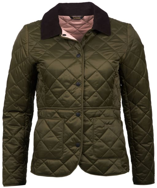 Women's Barbour x Sam Heughan Deveron Quilted Jacket - Olive