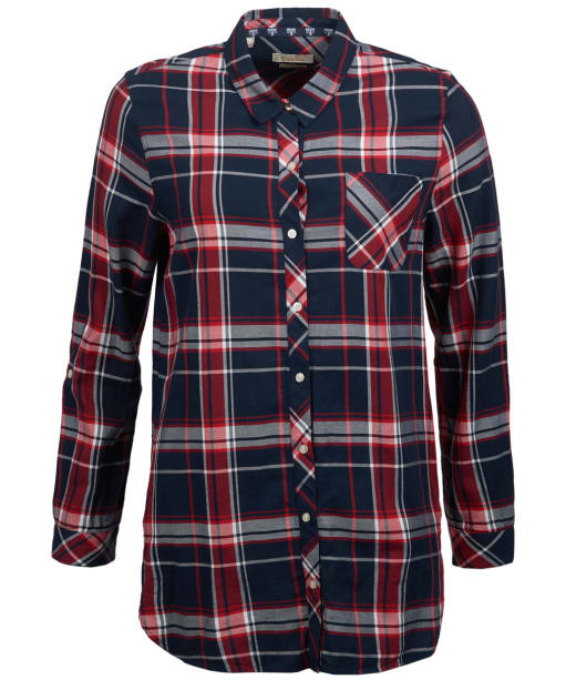Women's Barbour Fairway Shirt - Navy / Red