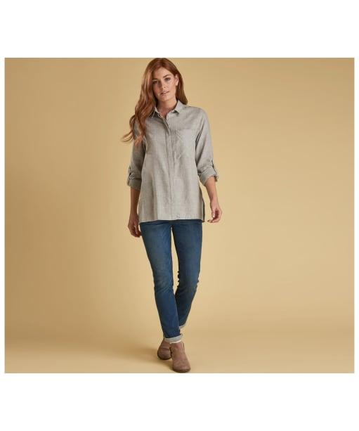 Women's Barbour Carron Shirt - Grey / White