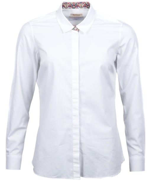 Women's Barbour Liberty Hyde Shirt - White